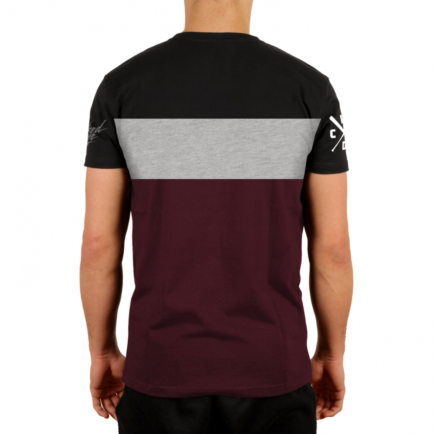 Футболка STUNT BLACK & BURGUNDY